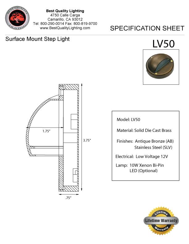 Bql Malibu Lv50 Surface Mount Best Quality Lighting