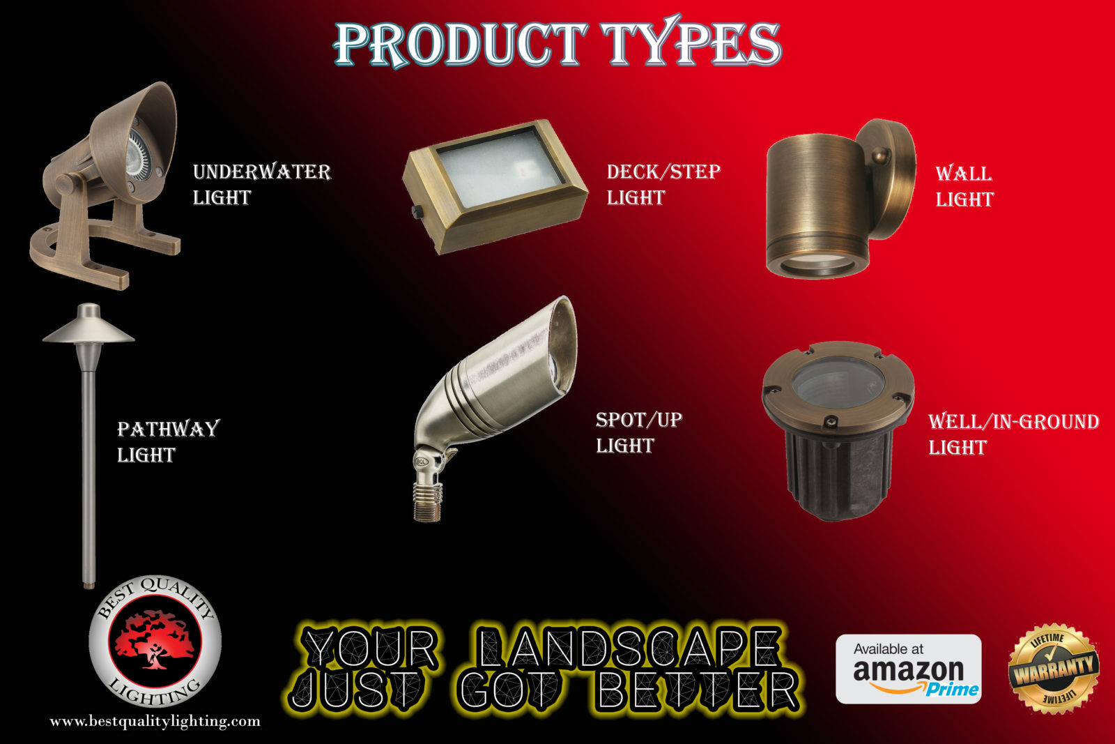 Types Of Landscape Lighting Fixtures Best Quality Lighting